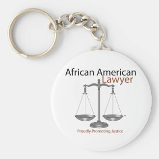 African America Lawyer Keychain