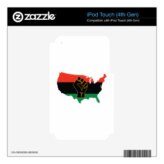 African American  iPod Touch 4G Decals