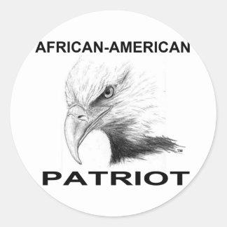 African-American 2 Classic Round Sticker