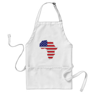 African American Africa United States Flag Adult Apron
