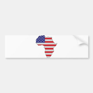 African American Africa United States Flag Bumper Stickers