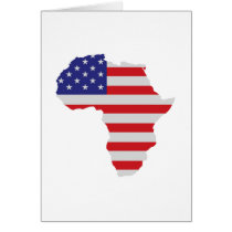 African American Africa United States Flag Card