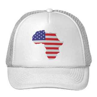 African American Africa United States Flag Mesh Hats