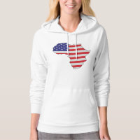 African American Africa United States Flag Hoodie