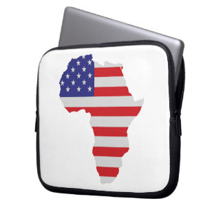 African American Africa United States Flag Laptop Sleeves