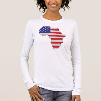 African American Africa United States Flag Long Sleeve T-Shirt