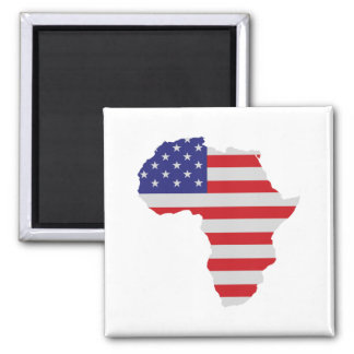African American Africa United States Flag 2 Inch Square Magnet