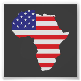 African American Africa United States Flag Photo Print