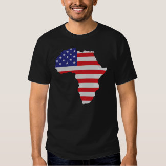 African American Africa United States Flag Tee Shirt