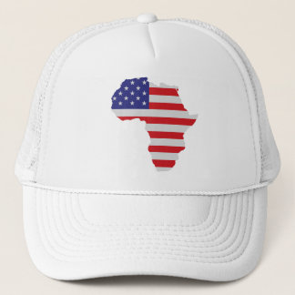 African American Africa United States Flag Trucker Hat