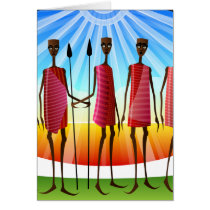 African American All Occasion Greeting Card