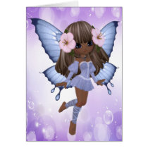 African American and Purple Fairy Card