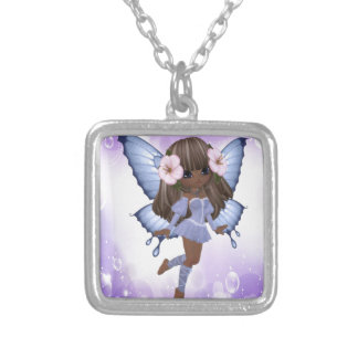 African American and Purple Fairy Pendants
