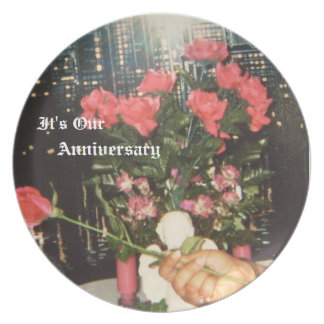 African American Anniversary Plate