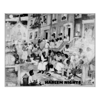 African American Art - Harlem Nights Poster