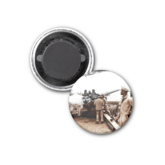 African American Artillerymen 1 Inch Round Magnet