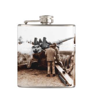 African American Artillerymen Hip Flask