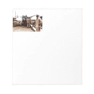 African American Artillerymen Notepad