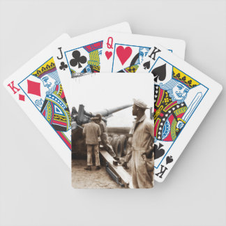 African American Artillerymen WWII Bicycle Playing Cards