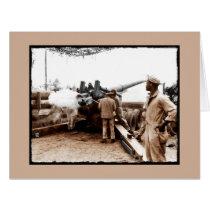 African American Artillerymen WWII Card