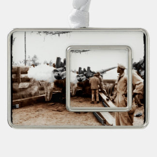 African American Artillerymen WWII Christmas Ornament