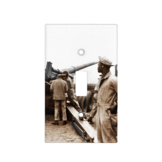 African American Artillerymen WWII Light Switch Cover