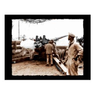 African American Artillerymen WWII Postcard