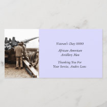 African American Artillerymen WWII Thank You Card