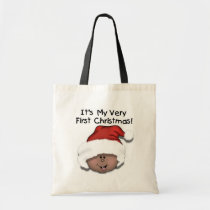 African American Baby 1st Christmas Tote Bag