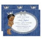 Denim Diamond African American Girl Baby Shower Invitation
