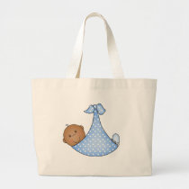 African American Baby Boy Large Tote Bag