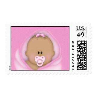 African American Baby Bundle Shower Stamp