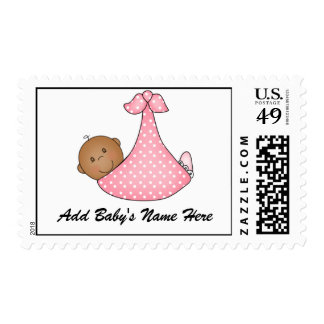 African American Baby Girl Customized Postage