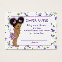 African american business cards templates zazzle standard sized business cards african american baby girl diaper raffle colourmoves Images