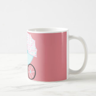 African American Baby Girl Pink Carriage Coffee Mug
