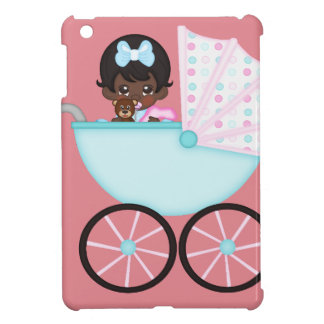 African American Baby Girl Pink Carriage iPad Mini Covers
