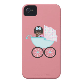 African American Baby Girl Pink Carriage iPhone 4 Cover