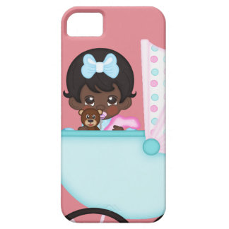 African American Baby Girl Pink Carriage iPhone SE/5/5s Case