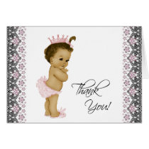 African American Baby Girl Thank You Card