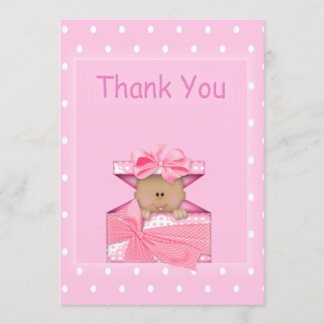 African American Baby Girl Thank You Note