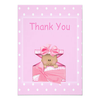 African American Baby Girl Thank You Note Card