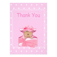 African American Baby Girl Thank You Note Personalized Invite
