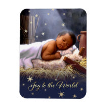 African American Baby Jesus Christmas Magnets
