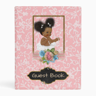 African American Baby Shower Guest Book Mini Binder