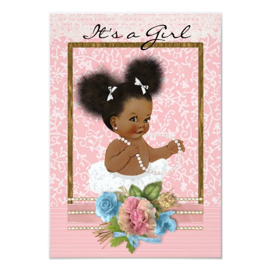 African American Baby Shower Invitation Zazzlecom