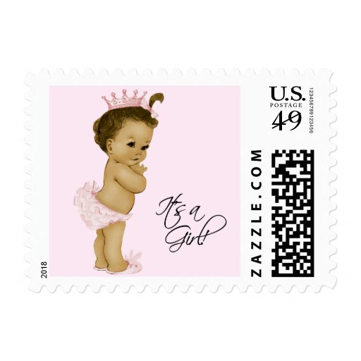 African American Baby Shower Postage Stamp