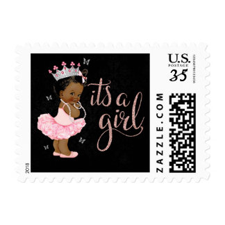 African American Baby Shower Postage Stamps