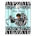 African American Baby Shower Zebra Boy or Girl Card
