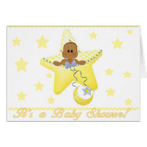 African American Baby Star is Born Card