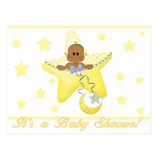 African American Baby Star is Born Postcard